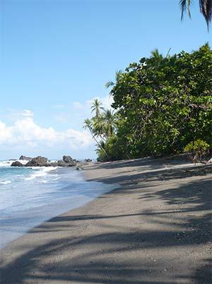 Underbar strand i Costa Rica